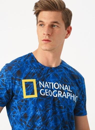 National Geographic Tişört Mavi